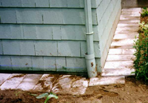 Patio blocks may prevent an animal from digging around the foundation of a building.