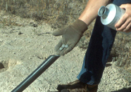 Using toxicants for wildlife control. Photo by Dallas Virchow